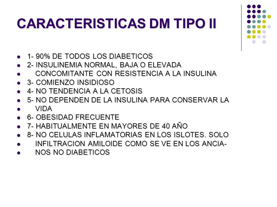 CARACTERISTICAS DM TIPO II