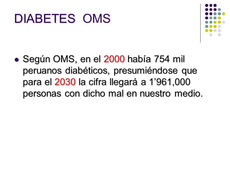 DIABETES OMS