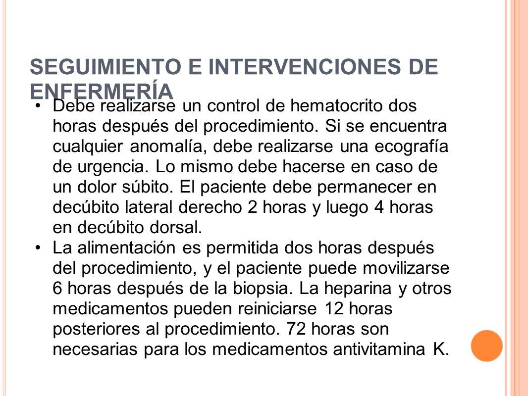 SEGUIMIENTO E INTERVENCIONES DE ENFERMERÍA