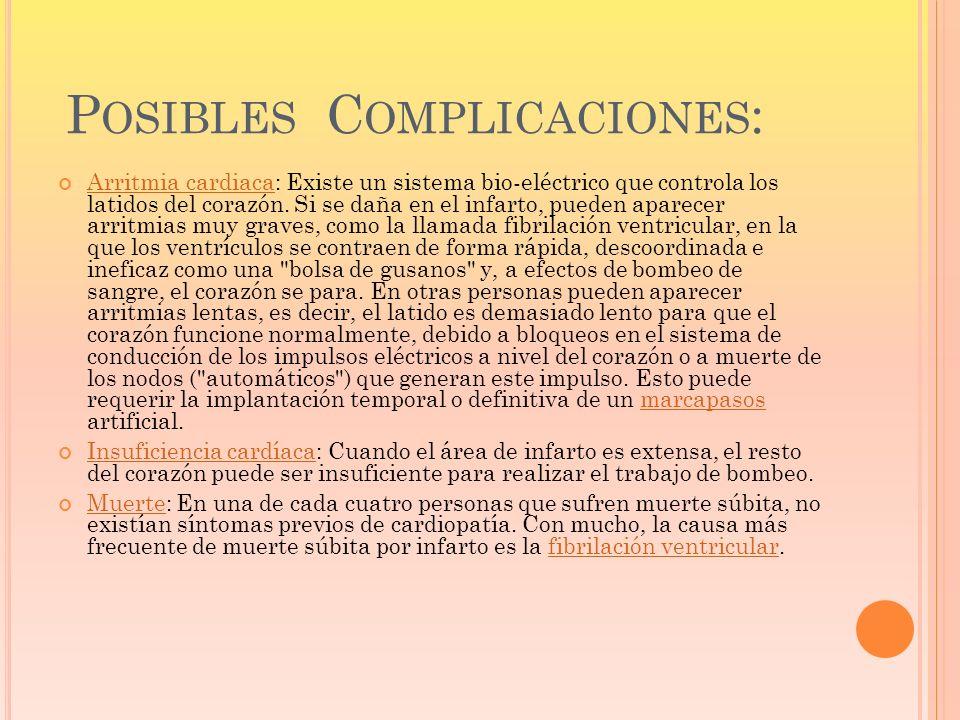 Posibles Complicaciones: