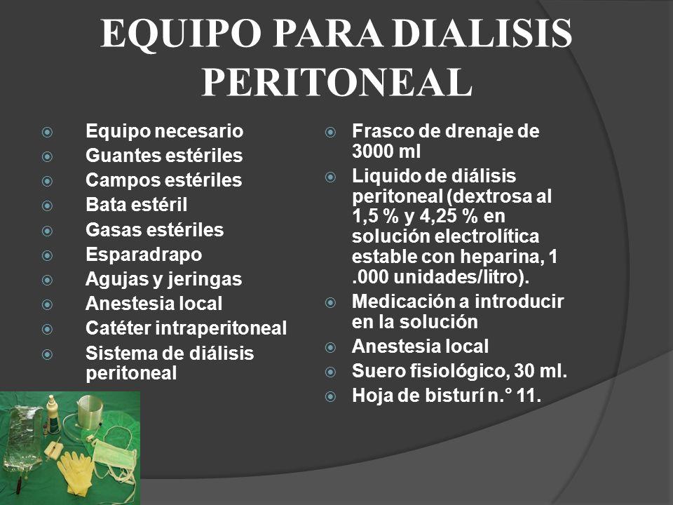 EQUIPO PARA DIALISIS PERITONEAL