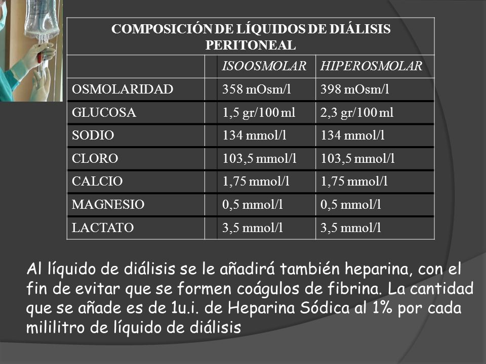 COMPOSICIÓN DE LÍQUIDOS DE DIÁLISIS PERITONEAL