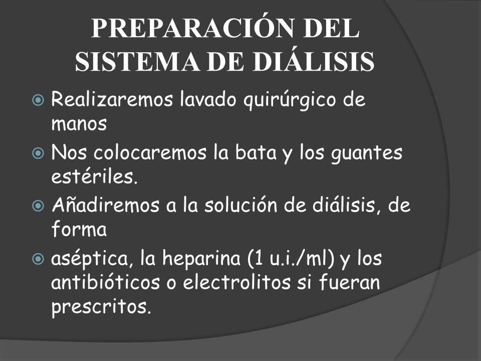 PREPARACIÓN DEL SISTEMA DE DIÁLISIS