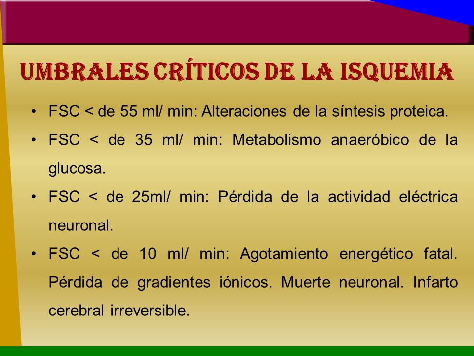 Umbrales Críticos de la isquemia
