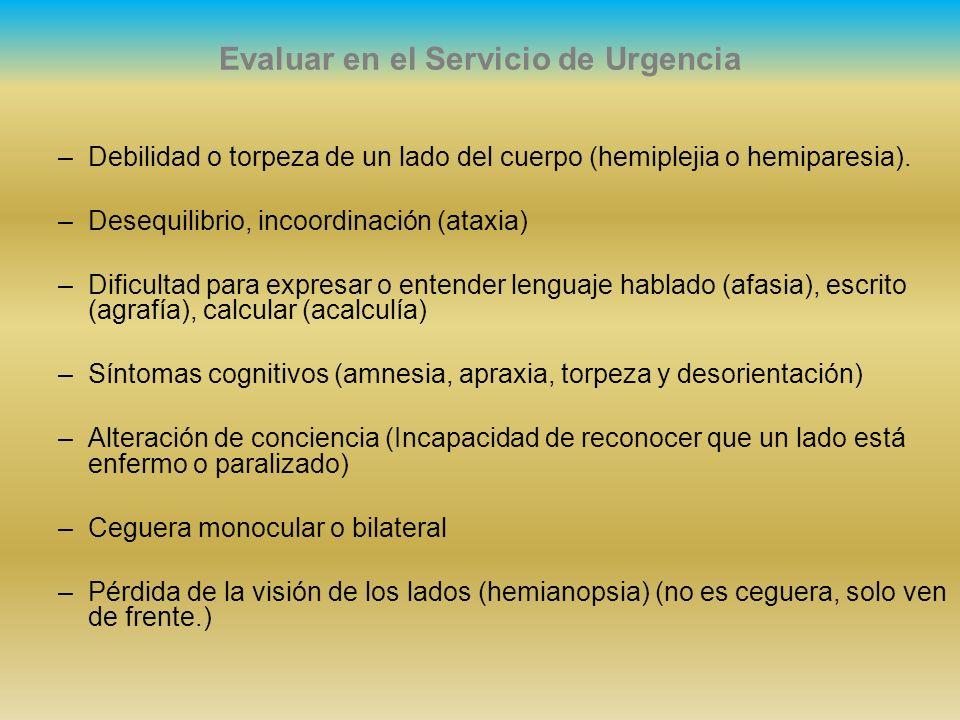 Evaluar en el Servicio de Urgencia