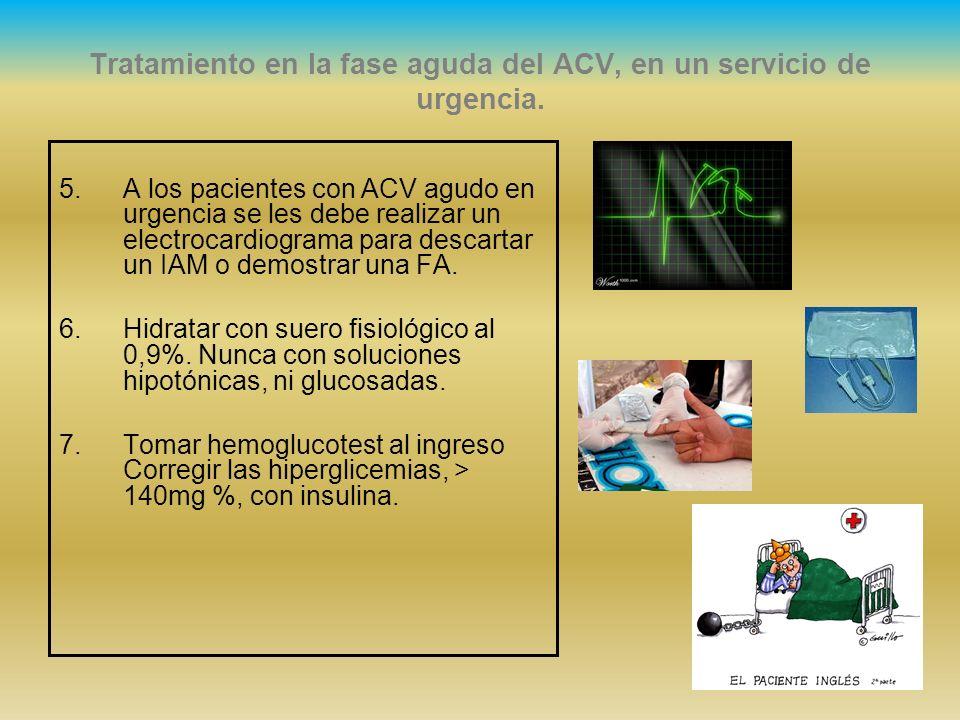 Tratamiento en la fase aguda del ACV, en un servicio de urgencia.