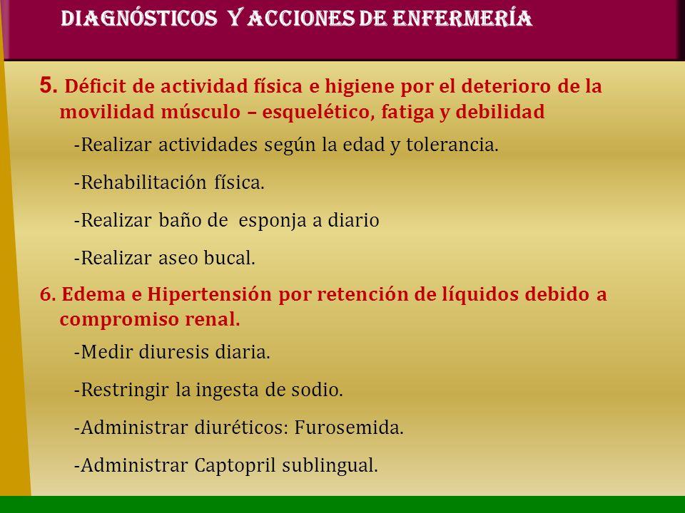 DIAGNÓSTICOS Y ACCIONES DE ENFERMERÍA