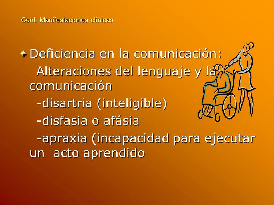 Deficiencia en la comunicación: