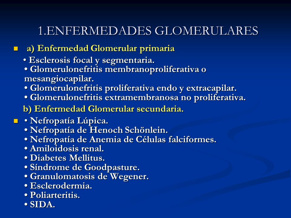 1.ENFERMEDADES GLOMERULARES