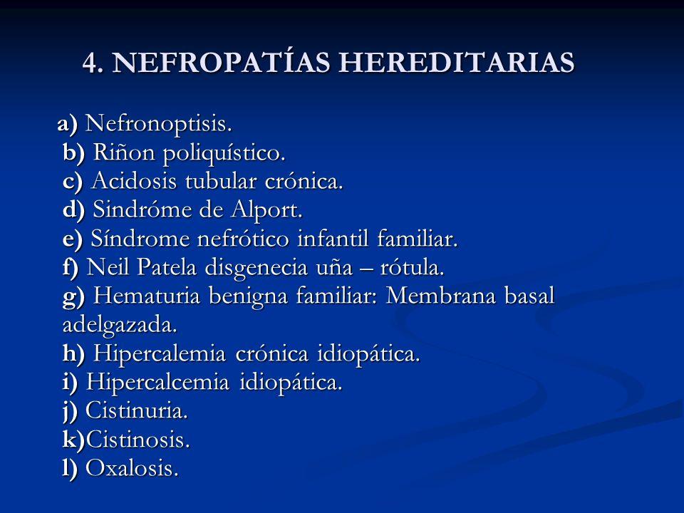 4. NEFROPATÍAS HEREDITARIAS
