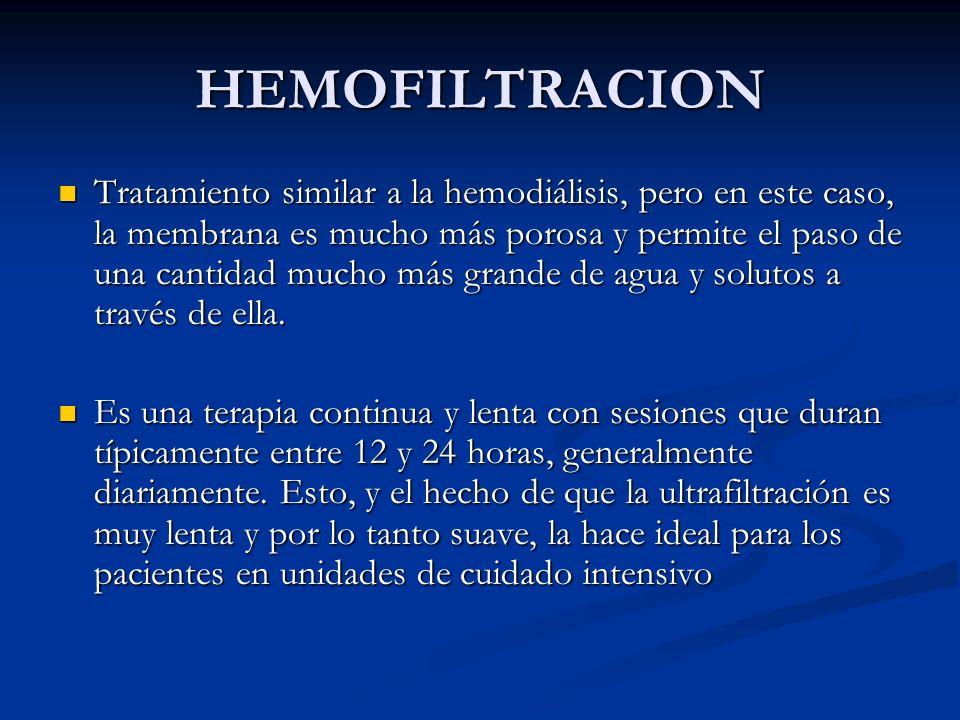 HEMOFILTRACION