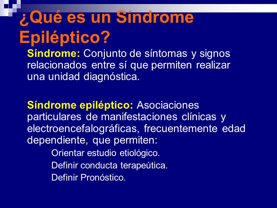 ¿Qué es un Síndrome Epiléptico