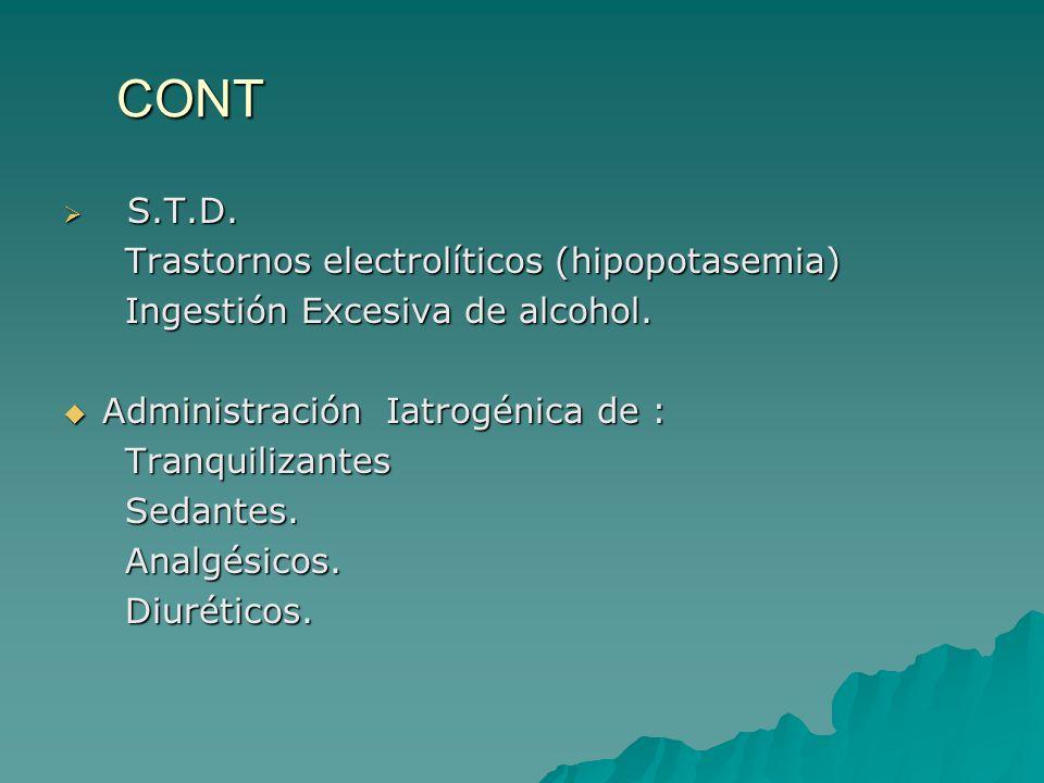 CONT S.T.D. Trastornos electrolíticos (hipopotasemia)