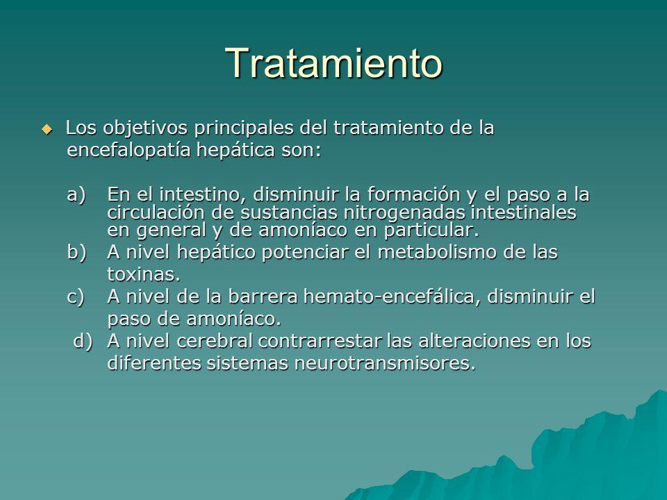 Tratamiento Los objetivos principales del tratamiento de la