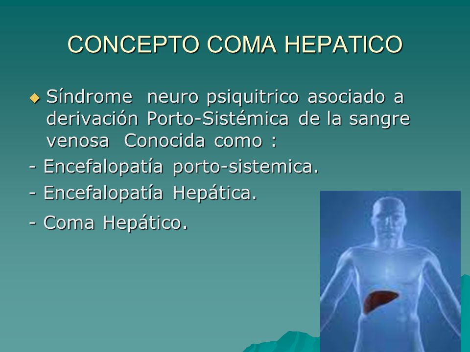 CONCEPTO COMA HEPATICO