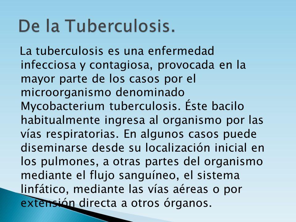 De la Tuberculosis.