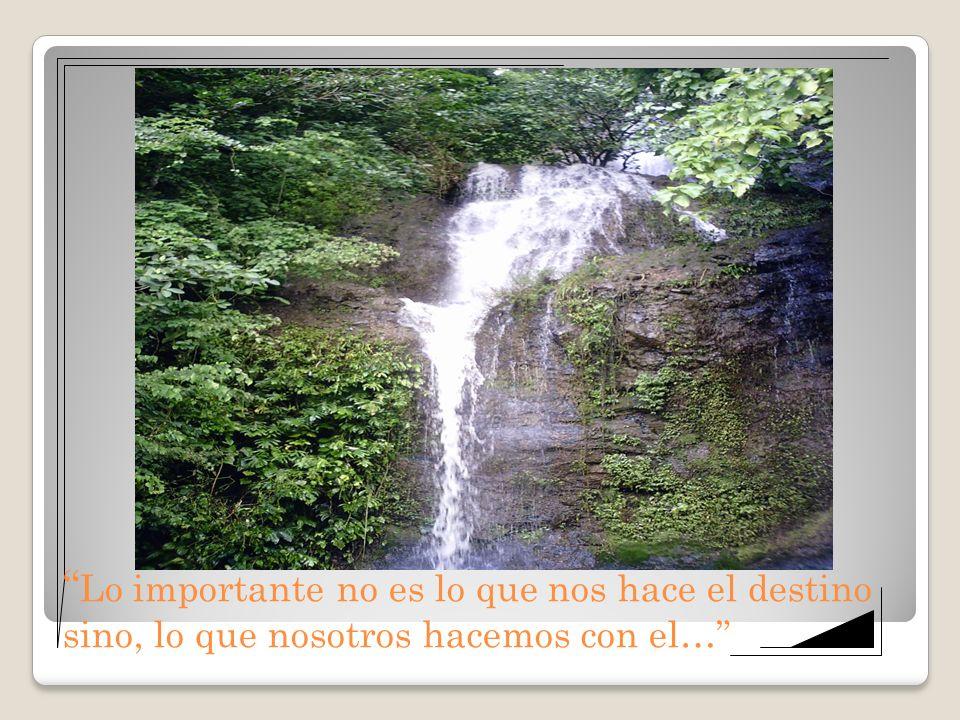 Lo importante no es lo que nos hace el destino sino, lo que nosotros hacemos con el…