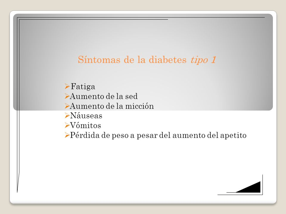 Síntomas de la diabetes tipo 1