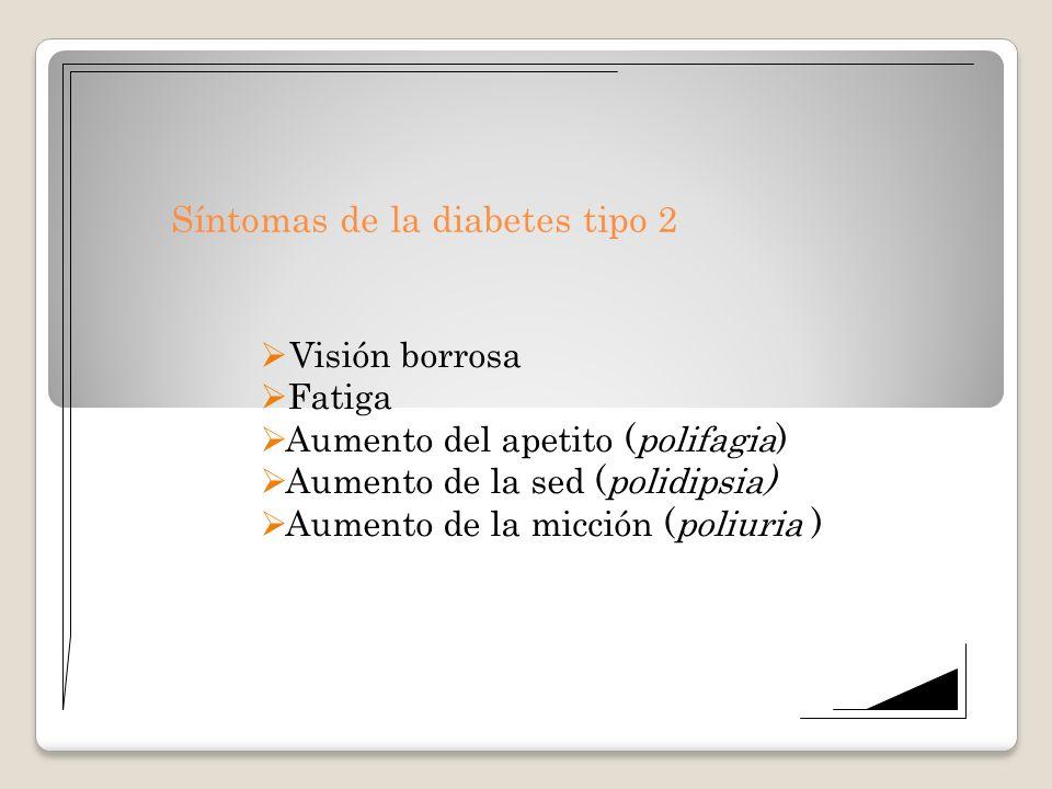 Síntomas de la diabetes tipo 2