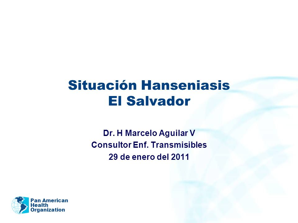 Situación Hanseniasis El Salvador