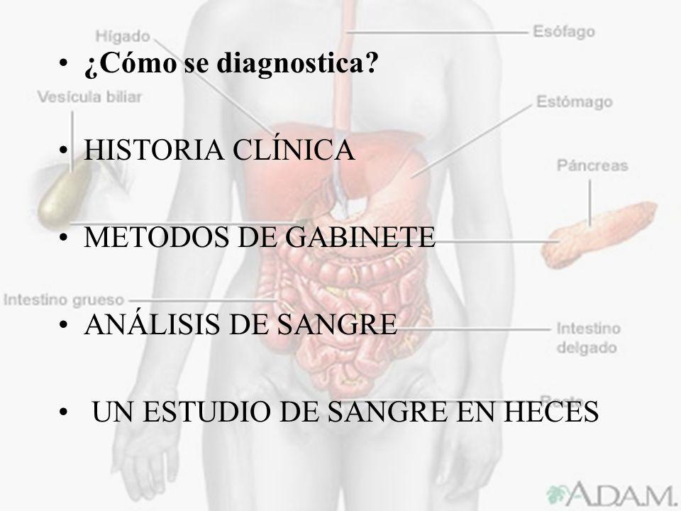 ¿Cómo se diagnostica. HISTORIA CLÍNICA. METODOS DE GABINETE.