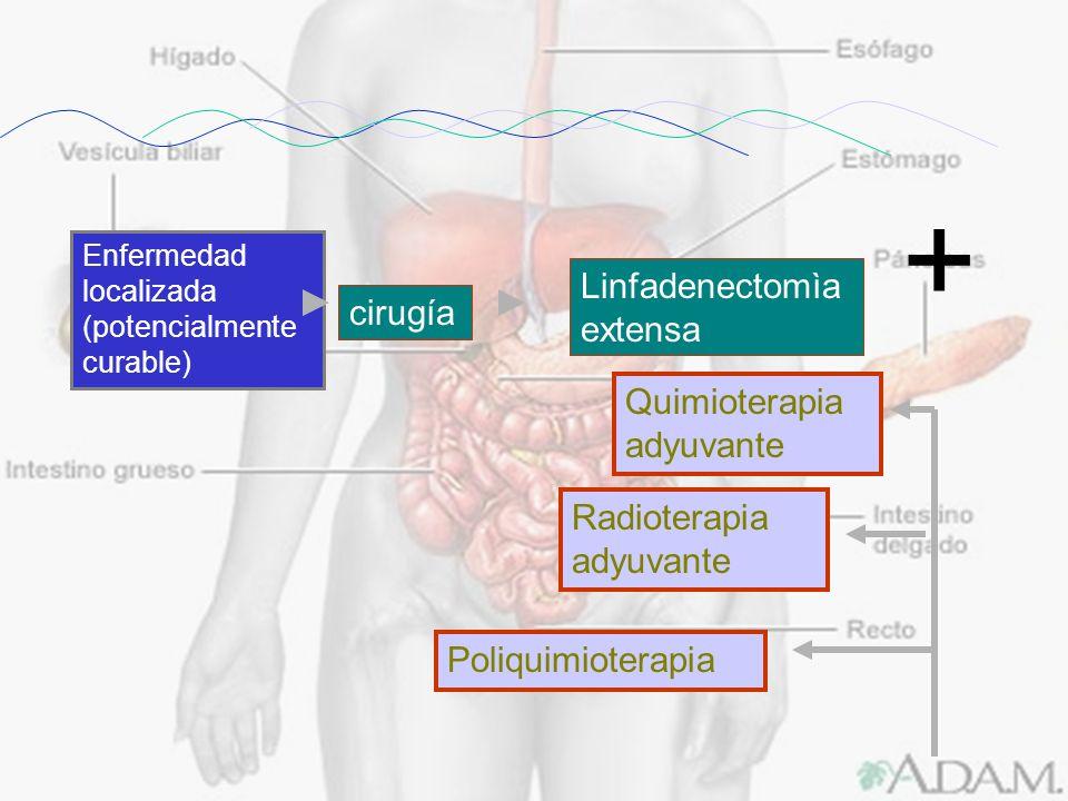 + Linfadenectomìa extensa cirugía Quimioterapia adyuvante