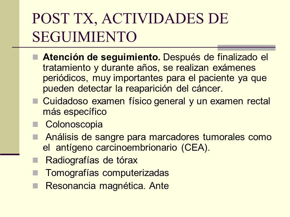 POST TX, ACTIVIDADES DE SEGUIMIENTO