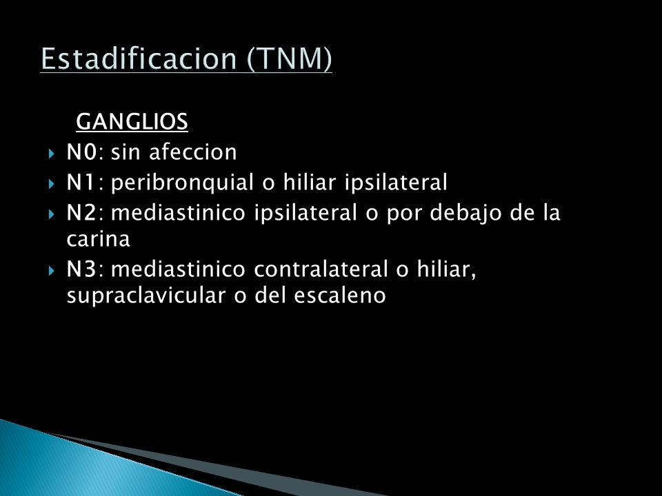 Estadificacion (TNM) GANGLIOS N0: sin afeccion