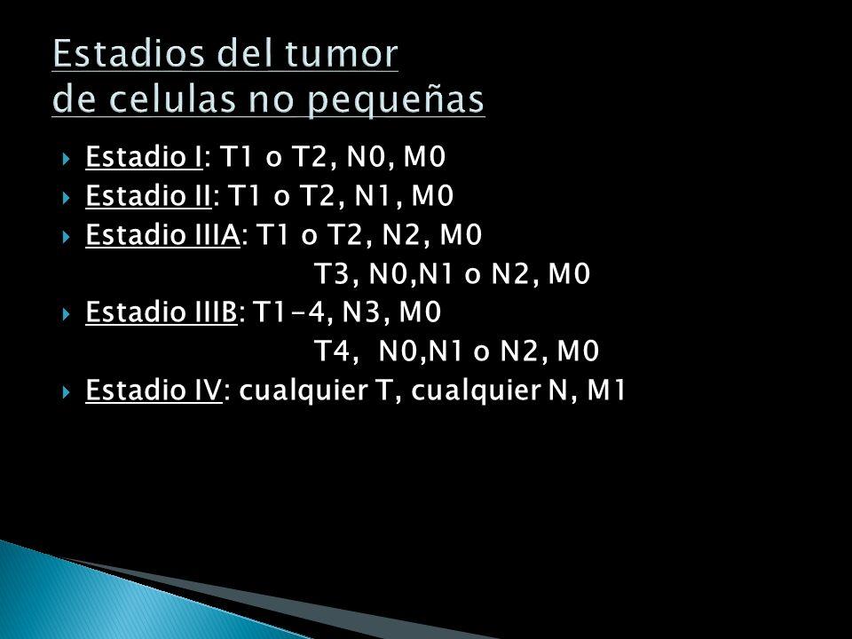 Estadios del tumor de celulas no pequeñas