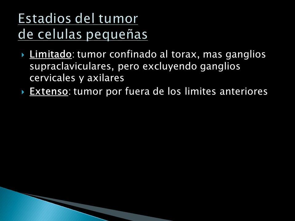 Estadios del tumor de celulas pequeñas