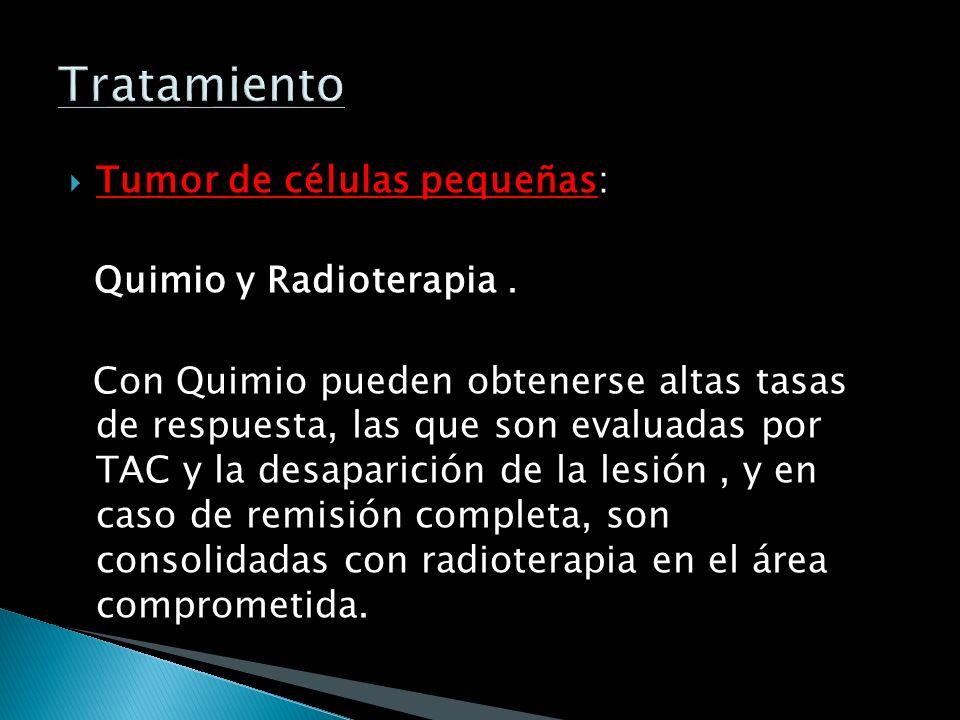 Tratamiento Tumor de células pequeñas: Quimio y Radioterapia .