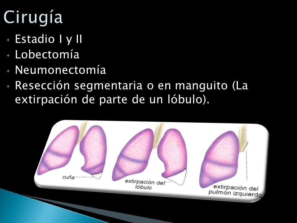 Cirugía Estadio I y II Lobectomía Neumonectomía