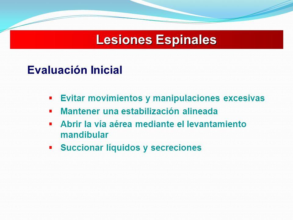 Lesiones Espinales Evaluación Inicial