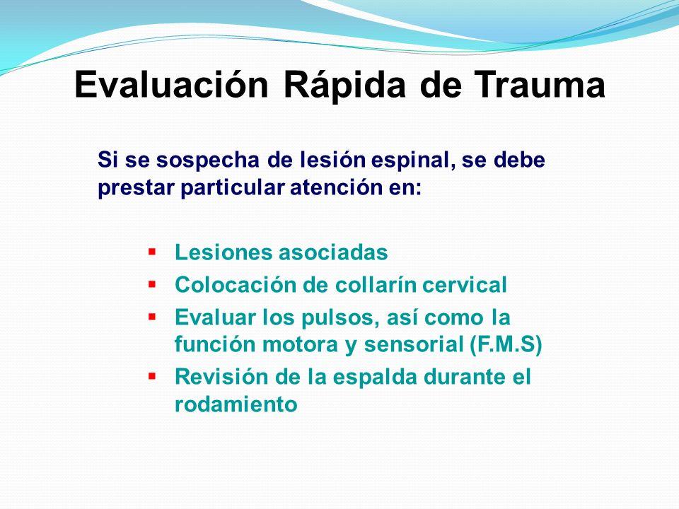 Evaluación Rápida de Trauma