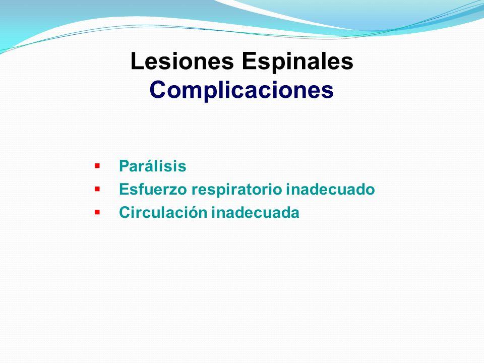 Lesiones Espinales Complicaciones