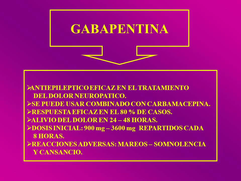 GABAPENTINA ANTIEPILEPTICO EFICAZ EN EL TRATAMIENTO