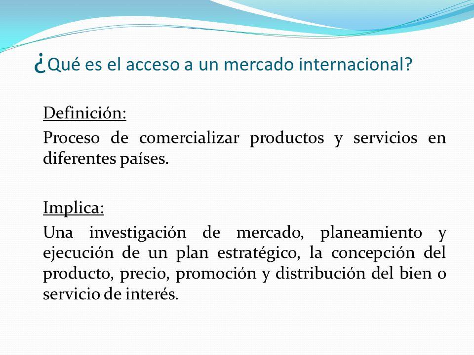 ¿Qué es el acceso a un mercado internacional
