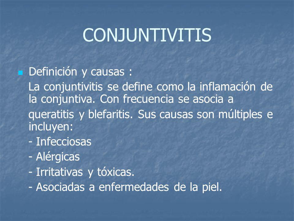 CONJUNTIVITIS Definición y causas :