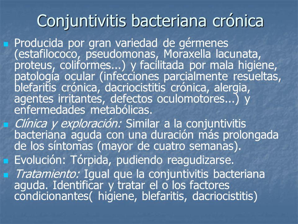 Conjuntivitis bacteriana crónica