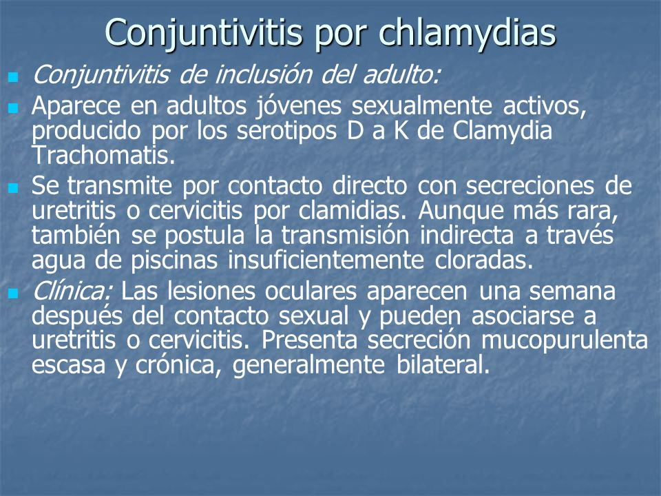 Conjuntivitis por chlamydias