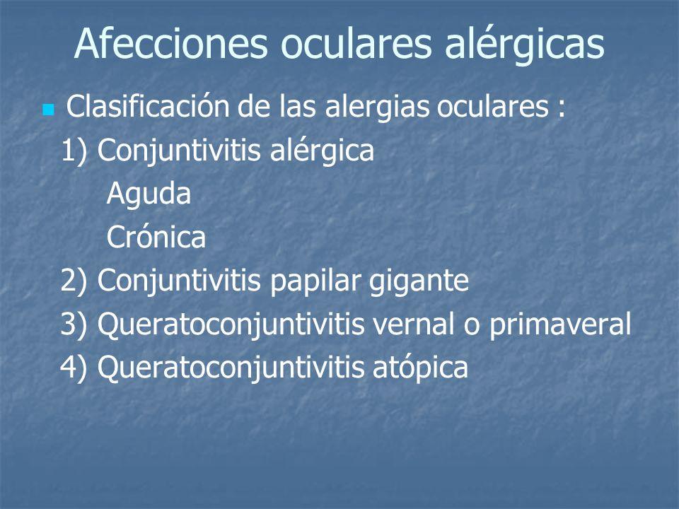 Afecciones oculares alérgicas