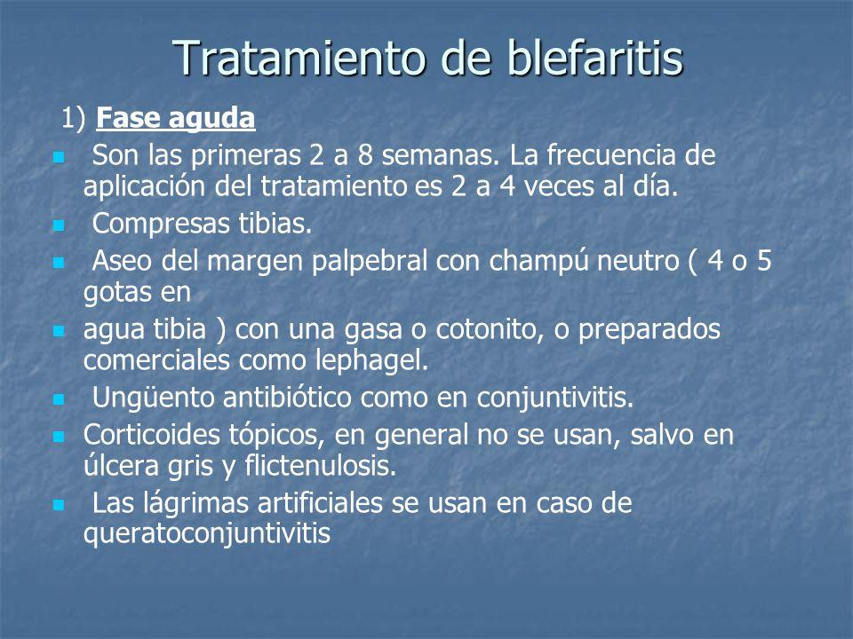 Tratamiento de blefaritis