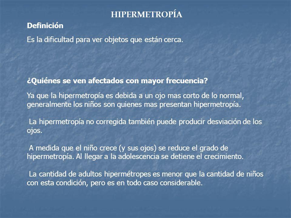 HIPERMETROPÍA Definición