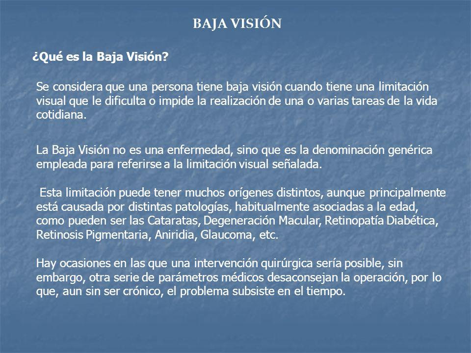 BAJA VISIÓN ¿Qué es la Baja Visión