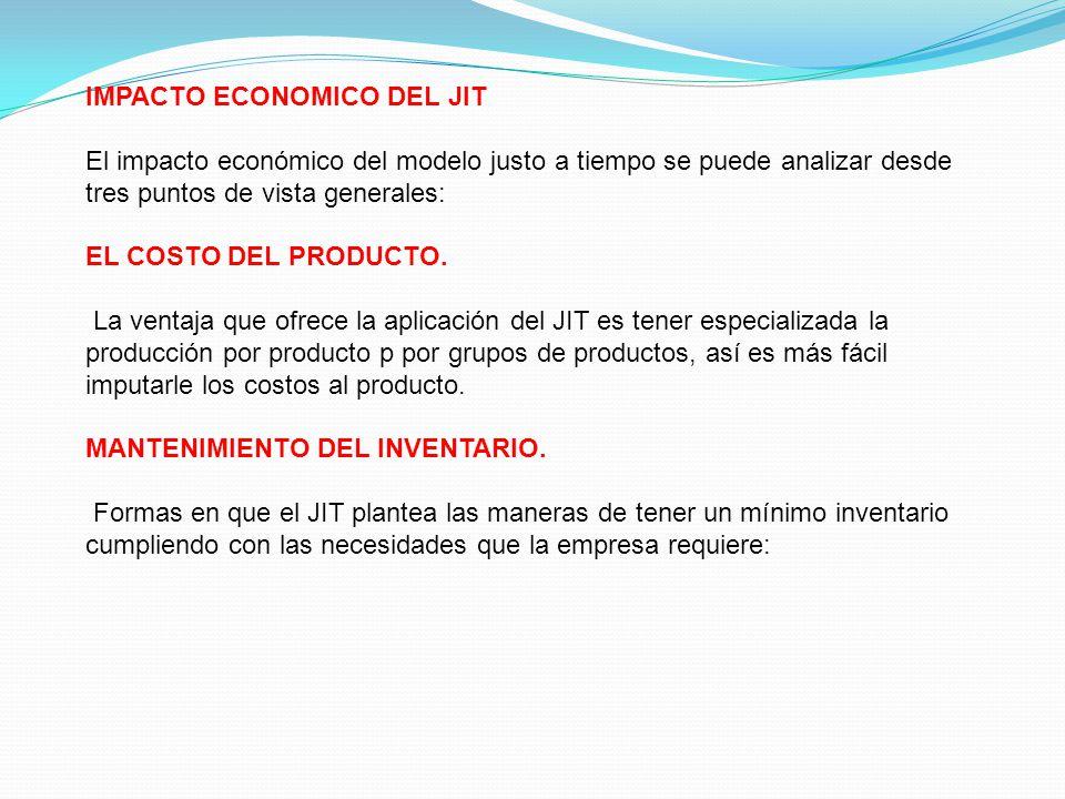 IMPACTO ECONOMICO DEL JIT