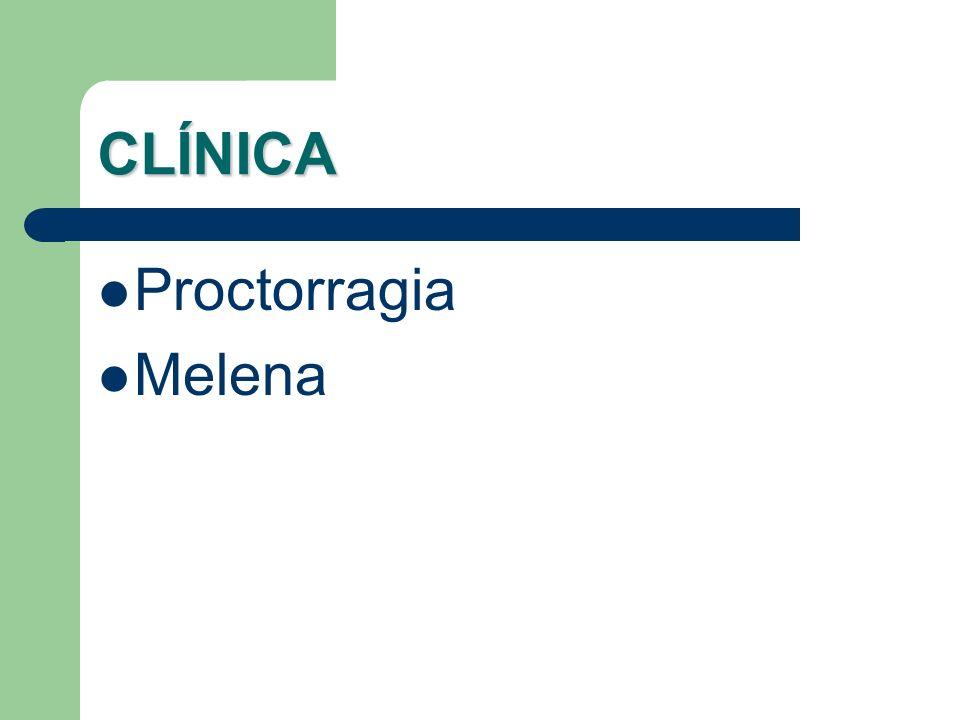 CLÍNICA Proctorragia Melena