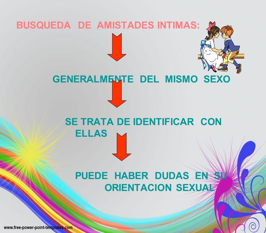 BUSQUEDA DE AMISTADES INTIMAS: