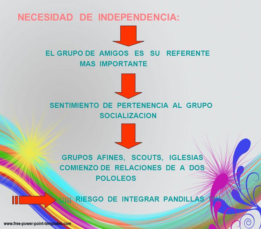 NECESIDAD DE INDEPENDENCIA: