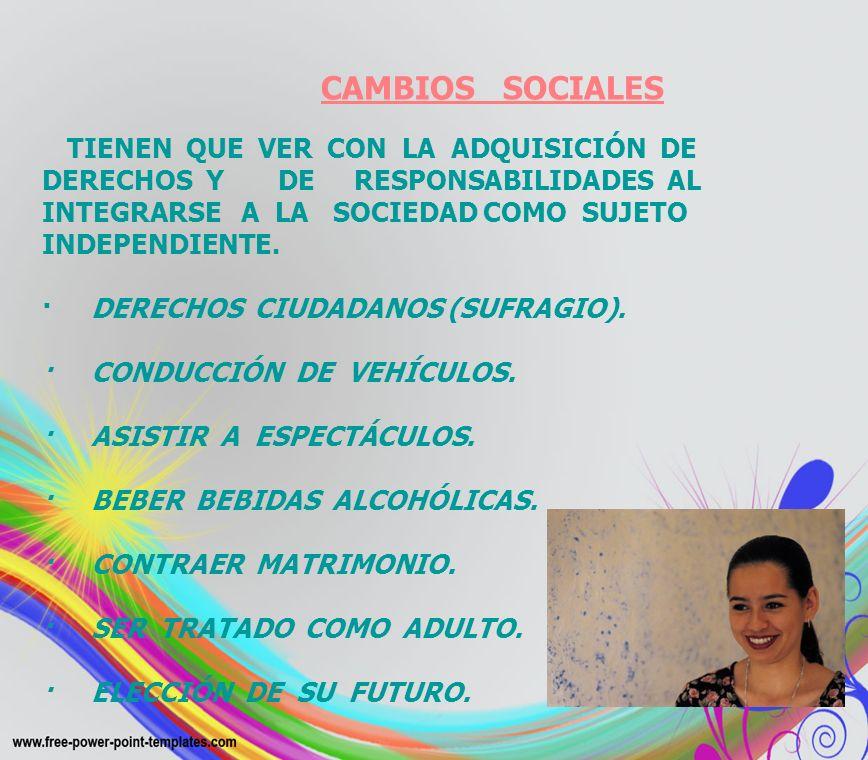 · DERECHOS CIUDADANOS (SUFRAGIO). · CONDUCCIÓN DE VEHÍCULOS.