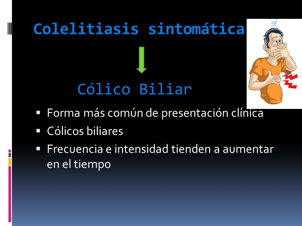Colelitiasis sintomática Cólico Biliar